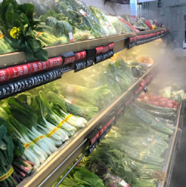 超市蔬菜水果高压喷雾加湿保鲜装置