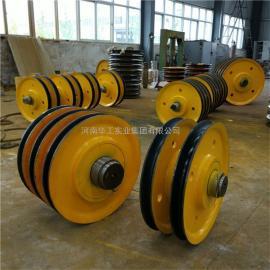 港机卷扬机滑轮组 铸钢热轧滑轮组滑轮片 导绳轮 抓斗用滑轮组