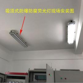 自蓄电池T8KHY-2*28w防爆荧光灯护栏式单双管