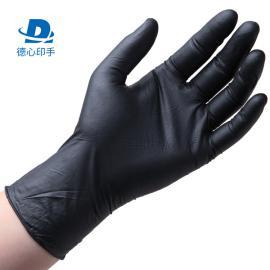 德心印手食品级一次性丁腈手套