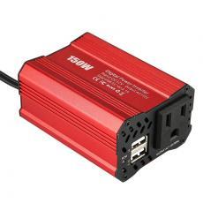 inverte150W车载逆变器美规双USB-DC12V-AC110V/欧规逆变器220V
