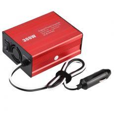 inverte300W车载逆变器美规双USB-DC12V-AC110V/欧规逆变器220V