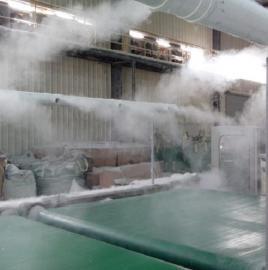 工业棉纺厂生产车间雾森高压冷喷雾降尘设备