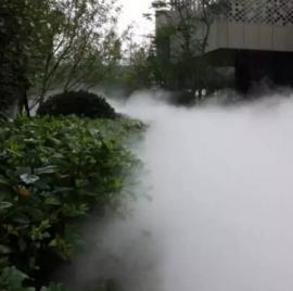 公园雾森人造雾高压喷雾造景景观系统