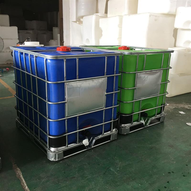滕 州1000L耐酸碱化工吨桶包装桶堆码桶滚塑一次成型