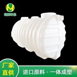 不渗漏一体成型2m3化�S池三格式塑料化�S池