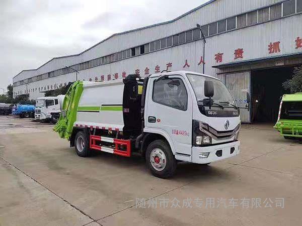 国六小型压缩垃圾车工作视频
