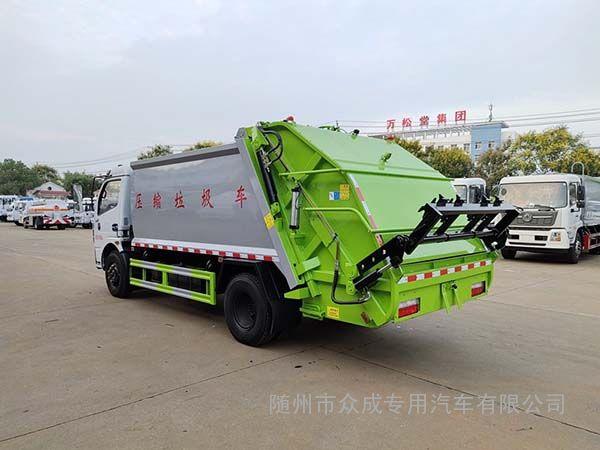 国五小型压缩垃圾车工作原理