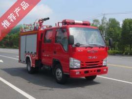 国六小型五十铃1吨泡沫消防车