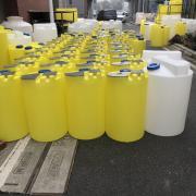 白/黄色大塑料加药箱 100/200L 立式搅拌PE 加药桶 化工加药桶