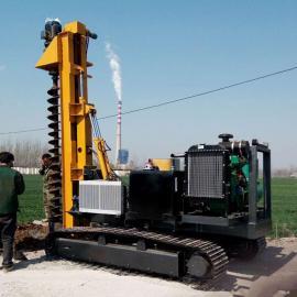 高速公路波形液压护栏打桩机钻孔机