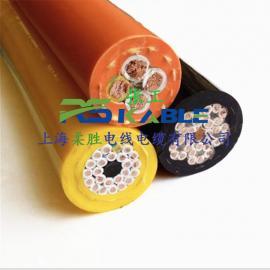 抗拉耐磨卷筒电缆线NSHTOU3*16+1*10+2/4/6/8芯拖令行车起重机用