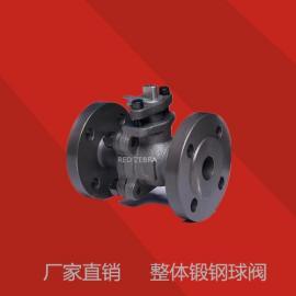 整体锻钢球阀 法兰整体锻造 Q41H Q41F 美标 A105 碳钢 浮动球阀