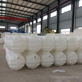 耐酸碱一体成型1立方化粪池三格式塑料化粪池