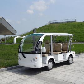 8座电动观光车,白色景区旅游爬山车