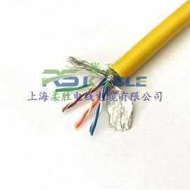 柔性Profinet4芯8芯工�I以太�W�通���|耐磨耐低��-40℃