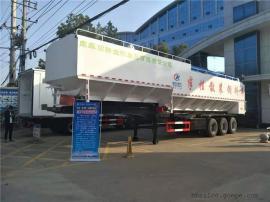 13米半挂散装饲料车 66方40吨饲料运输罐厂家