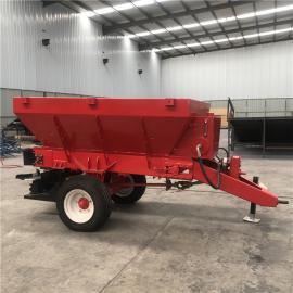 牵引式农用撒肥机 大块农田肥料抛撒机 大型撒粪机