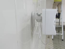 餐厅人员通道使用的感应喷雾消毒机器