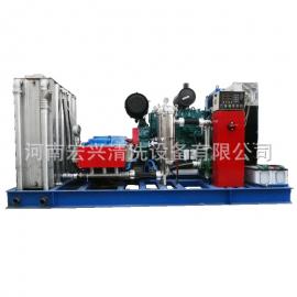 气动调压炼油厂换热器冷凝器管壁高压清洗机 120MPA70升潍柴动力