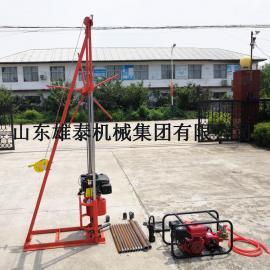 地质勘探取样设备 轻便野外土壤勘察钻机 小型汽油钻探机