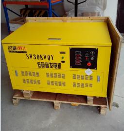 节能型汽油发电机30KW带静音箱