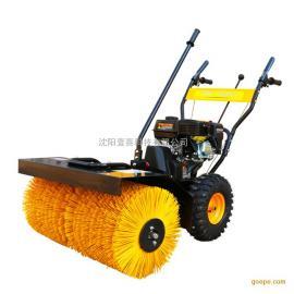 6580小型滚刷扫雪车 6.5马力手推式物业清雪机 除雪机 抛雪机