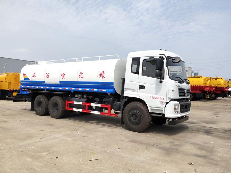国六东风后双桥热水运输车 20吨东风专底澡堂运水车