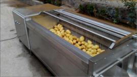 土豆毛刷清洗�C器 土豆清洗�C器