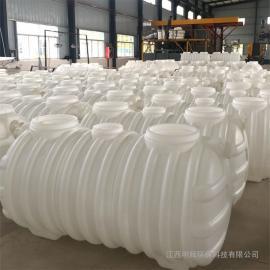 不渗漏一体成型1.5立方化粪池塑料PE化粪池