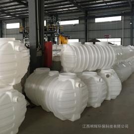 旱厕改造无缝隙1.5立方化粪池三格式塑料化粪池