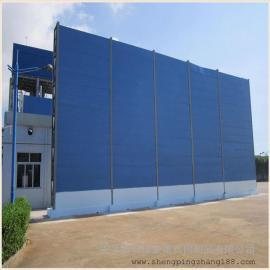 道路噪音屏障 公路声屏障的材质 金属隔音墙效果