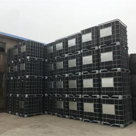 华社650口径耐酸碱避光吨桶食品级腌制桶IBC集装周转桶1000L
