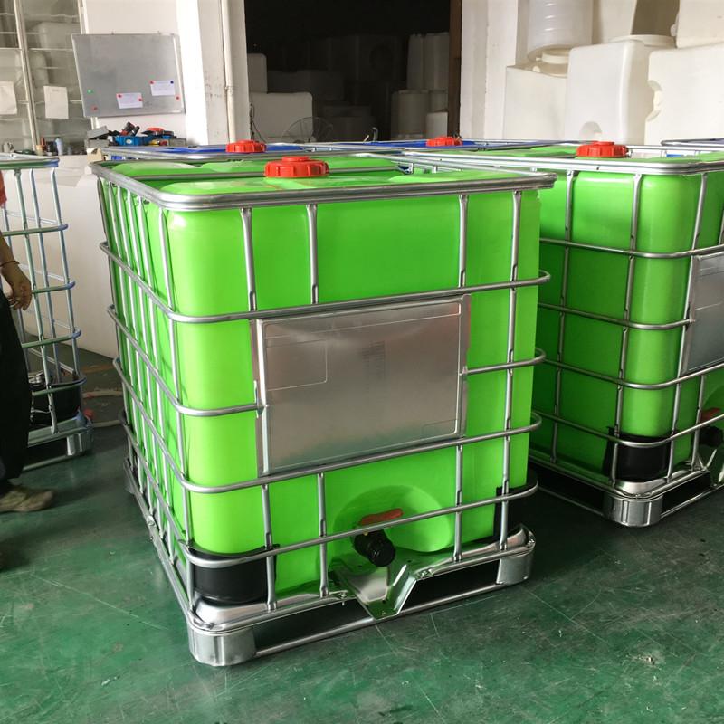 罗 山1吨耐酸碱塑料吨桶化工吨桶IBC周转桶华社品质