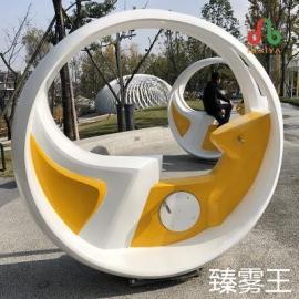 自行车互动喷泉-单车脚踏喷泉-永诚盛达自主研发