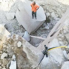 石灰石采石场开采破裂器岩石劈裂机 液压劈裂棒