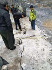 硬石头开采液压劈石器拿货货源