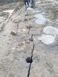 修路遇到石头不能放炮劈石机岩石劈裂机 液压劈裂棒
