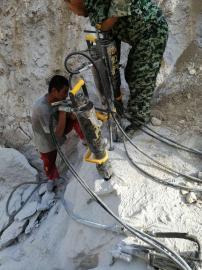没有噪音灰尘破石头的机器岩石劈裂机 液压劈裂棒