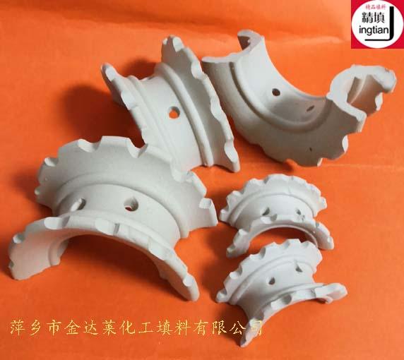 陶瓷异鞍环填料 40%氧化铝异鞍瓷环 釉面瓷异鞍环 精填牌金达莱