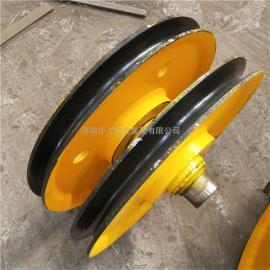 起重机定滑轮组 抓斗上下滑轮组 行车铸钢热轧滑轮片 可来图定做