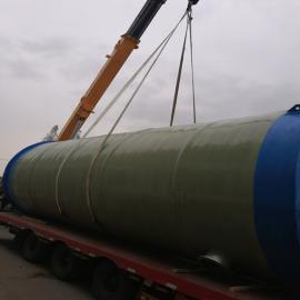 地埋式一体化污水提升泵站 玻璃钢筒体