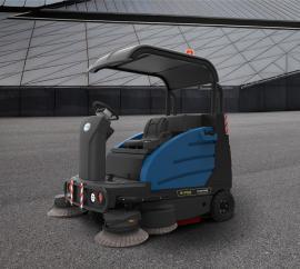 容恩驾驶式扫地车 工厂车间用半封闭式电动清扫车R-PQS