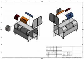 3立方分类钩臂垃圾箱
