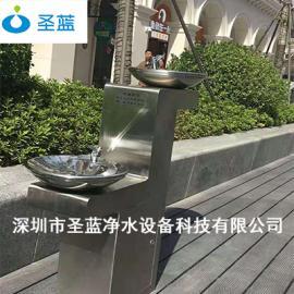 304不锈钢户外饮水台 高低盆户外公共直饮水机