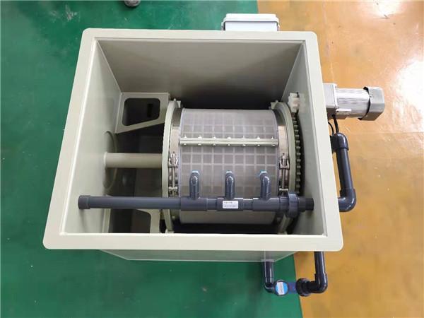 微滤机小型水产养殖全自动PP材质 10吨小型 不锈钢滚筒过滤器