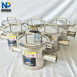 食品级 不锈钢 强磁 流体 磁性管道过滤器 卡箍式流体除铁器