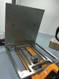 1500公斤食品厂专用翻盖清先电子地磅IP65防护等级