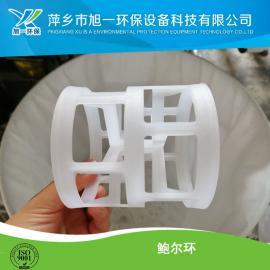 增强聚丙烯RPP鲍尔环填料 优质DN76白色 阻燃PP塑料鲍尔环生产中