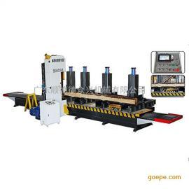 新型圆木推台锯 原木锯 木工机械开料锯 数控立式带锯